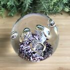 Purple And White Solvang California Paperweight With Floating Rings 600g 78cm