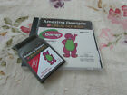 Janome Amazing Designs BARNEY Collection 1 Memory Embroidery Card w Chart NICE