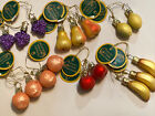 Lot Of 17 INGES HEIRLOOMS Miniature FRUIT CHRISTMAS ORNAMENT