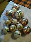 Lot of 11 PEANUTS CHARLIE LUCY SNOOPY WOODSTOCK CHRISTMAS GLASS ORNAMENT VINTAGE