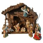 Italy Made Christmas Nativity Set 7 Scale 13 Piece Musical Manger Silent Night