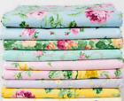 Boundless Rosette Shabby Chic Pink Yellow Rose Bud Quilt Cotton Fabric Craftsy