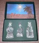 Waterford Marquis Miniature Nativity The Three Wise Men Boxed Crystal