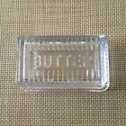 Hearth Hand Magnolia Extra Large Glass Embossed Butter Dish Farmhouse