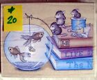 HOUSE MOUSE LG MOUNTED RUBBER STAMP 2003 NO CHEESE PLEASE MINT  20