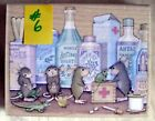 HOUSE MOUSE LG MOUNTED RUBBER STAMP 2003 PET CLINIC MINT NEVER USED  6