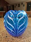 Fenton Pulled Feather Vase 1975 Robert Barber Dave Fetty