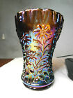 Imperial Glass Amber Carnival Daisy WHIMSEY WHIMSY Vase made for Rose Presznick