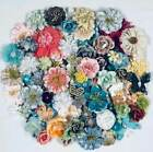 Prima  HUGE LOT DIMENSIONAL MULBERRY  FABRIC FLOWERS  BUTTERFLIES  LOT 39