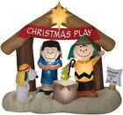 PEANUTS NATIVITY SCENE Airblown Inflatable Christmas CHARLIE BROWN LUCY SNOOPY