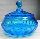 Fostoria Glass American Go With Blue Puff Box and Cover in 1925 Catalog 2183
