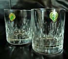 WATERFORD Barware Double Old Fashioned Glasses Cut Crystal 12 oz Set of 2 NEW