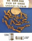 24PAIR Aurora TALL HO Slot Car PickUp Shoe Springs 8888