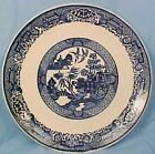 Vintage BLUE WILLOW PORCELAIN DINNER PLATE Pretty WOW