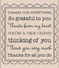 THANKS FOR EVERYTHING GREETING Stamp H5139 Hero Arts