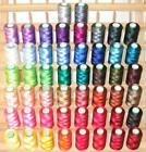 New 60 Large Machine Rayon Embroidery Thread + Rack 4 Brother
