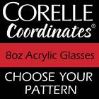 Corelle 8oz Acrylic Glasses JUICE Cup - Set of 6- NEW
