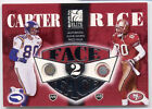 ELITE Jerry Rice Chris Carter FACE to FACE Game Used Helmet Mask 350