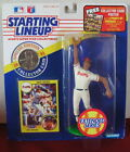 1991 Dave Justice Atlanta Braves Rookie Starting Lineup in pkg w/ BB Card
