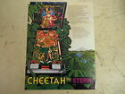 Original Stern Cheetah Pinball Game Flyer