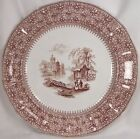 Antique WAVERLY BROWN TRANSFERWARE DINNER PLATE Thomas Edwards Ca 1841 GOOD COND