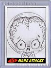 MARS ATTACKS TOPPS HERITAGE SKETCH SUGAR FUELED