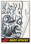 Topps 2012 Mars Attacks Heritage Sketch Card by Mark Pingatore