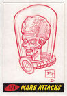 Topps 2012 Mars Attacks Heritage Sketch Card by David Green