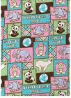Endangered Animal Squares Snuggle Flannel by David Textiles bty
