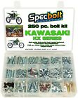 250pc Kawasaki KX Bolt Kit 60 65 80 85 100 125 250 400 420 500 engine body frame