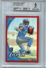 2010 Topps Chrome Red Refractor Jahvid Best BGS 9 w 3 9.5 RC Lions