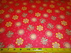 Flowers & Dots Rose Cotton Flannel Fabric Heritage Studio BTY