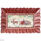 Boch TOY'S FANTASY Sleigh Ride Rectangular Cake Plate  #2224