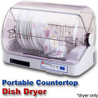 Compact Countertop Dish Dryer, Portable Tabletop Small Apartment Mini Dis