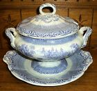 Antique Transfer Soup Tureen - Lid As Is - Spets Rorstrand