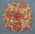 English Chippendale Salad Plate Johnson Brothers Red Pink Transferware AS IS (O)