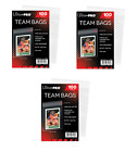 (300 3 Packs) Ultra Pro Team Set Bags Resealable Strip Trading Card Storage
