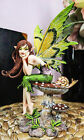 Ebros Amy Brown Thinking Of You Fairy Sitting On Wild Giant Mushroom Statue