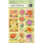 K  Company SW SPRING BLOSSOM PEONIES Grand Adhesions 3 D Stickers Scrapbooking