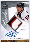 2008 09 UD UPPER DECK THE CUP CLAUDE GIROUX AUTO PATCH RC 249 3 COLORS