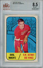 1967 68 Topps #50 Doug Roberts BVG 8.5 NM-MT+ Detroit Red Wings