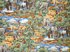 Springs ELEPHANT SOCIAL ALLOVER Cotton Fabric BTY FREE US SHIP