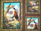 Springs Pheasant Hollow  Wallhanging Panel Cotton Fabric BTY FREE US SHIPPING