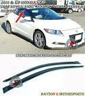 Side Window Rain Guard Visors Tinted Fits 11 16 CR Z 2dr