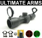 TACTICAL 4x30 ILLUMINATED P4 RUBBER ARMORED RIFLE SNIPER SCOPE + RINGS