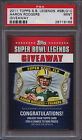 2011 TOPPS SUPER BOWL LEGENDS GIVEAWAY SBLG10 AARON RODGERS PSA 9 Packers