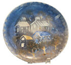 Rare Unfired Original Sascha Brastoff Modernist Plate Rooftops Author Collection