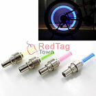 4x Bike Bicycle Car Motor Wheel Tire Valve Cap Spoke Neon 5LED Lights Flash Lamp