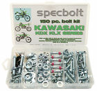 150pc KAWASAKI KDX Bolt Kit 200 220 250 400 body engine frame fenders 50 80 175