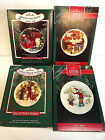 HALLMARK KEEPSAKE ORNAMENTS COLLECTORS SERIES PLATES WITH STANDS 87, 88, 91, 92